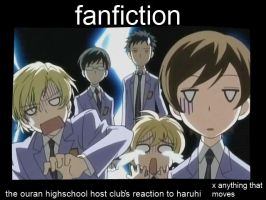 Fanfiction in Ouran Demotivational by Pictrixel