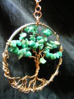 Amazonite and copper tree by BacktoEarthCreations