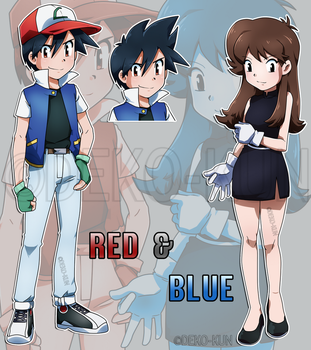 Commission - Red and Blue by Deko-kun