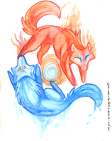 Fire vs Water by SpiritOfTheFire