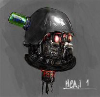 Head cyborg by Max-CCCP