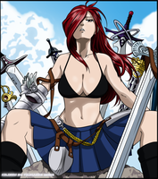 Fairy Tail - Cover 193 colored by Akemiii