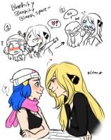 cynthia/dawn doodles by dashyice