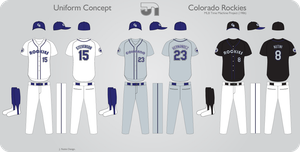 Colorado Rockies 1986 Uniform by JimmyNutini