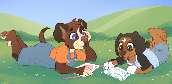 Drawing Together - Commission by sbneko