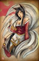 LOL- Ahri by TyrineCarver