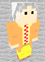 Doc Brown 2015 Minecraft Skin Preview by THATANIMATEDGUY
