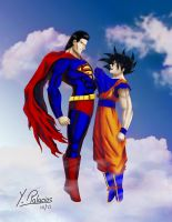 Goku VS Superman by Yakve