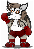 Badger Roland the Boxer by LordDominic