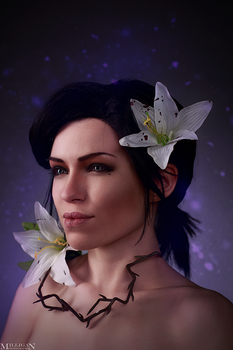 The Witcher - Flower portraits - Syanna by MilliganVick