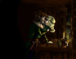 no work at midnight (Hiccup and Astrid) by Mariya14