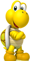 Yellow Koopa Troopa by YoshiGo99
