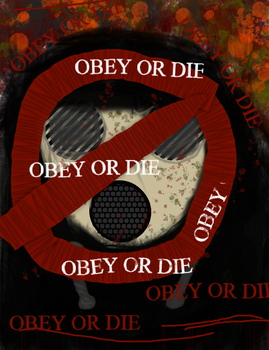 OBEY YOUR GOVERNMENT by Bloodymuffin1337