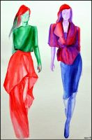 Fashion illustration XII. by Ennete