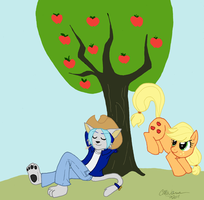 COMMISSION:Frost and Applejack by prismaya