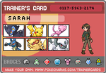 Pokemon Diamond Trainer Card by hats-for-triumph