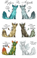 Xephyrian Fox Adoptables by RekalaRain