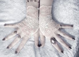 Adele Lace Fingerless Gloves by ZenAndCoffee
