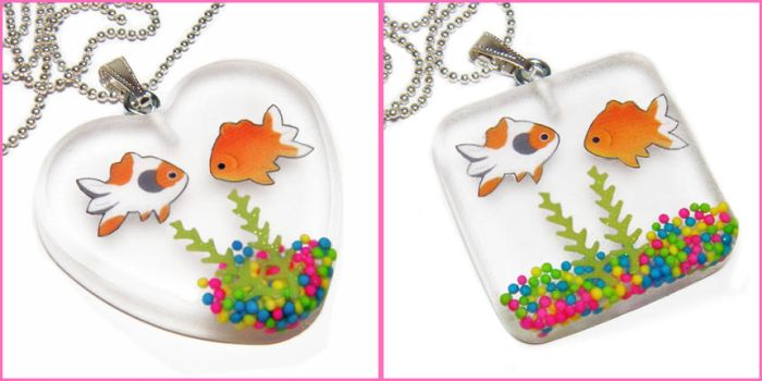 Portable Fish Tank Necklaces by bapity88