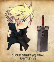 Chibi'ng Cloud Strife by FelipeNero