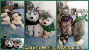 Aurora Husky and Wolf 17in by Vesperwolfy87