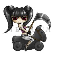 Chibi Death Girl by polina-alexandrowna