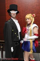 Sailor Moon and Tuxedo Mask by Nyxiie