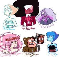 Steven Universe AU by Papayawhipped