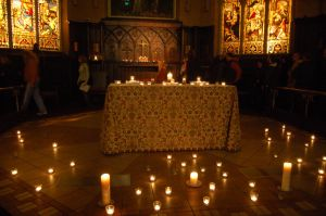Altar of Candles by paravex