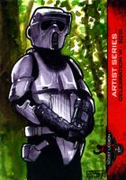 Scout Trooper sketch card 501st Legion CVI 2012 by geralddedios