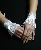 Lolita Wedding Cuffs white by Estylissimo