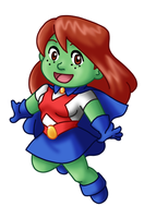 Chibi Miss Martian by TwinEnigma