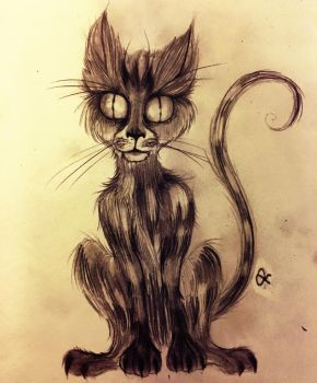 Nightmarish Feline  by Zeldahlia