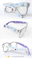 Ms. Pac-man custom Wayfarer style glasses by Ketchupize