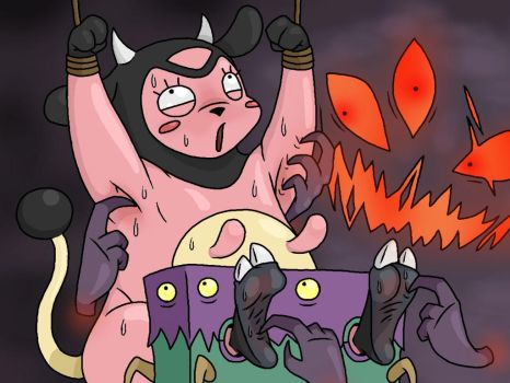 Miltank Tickled by Lord-Reckless