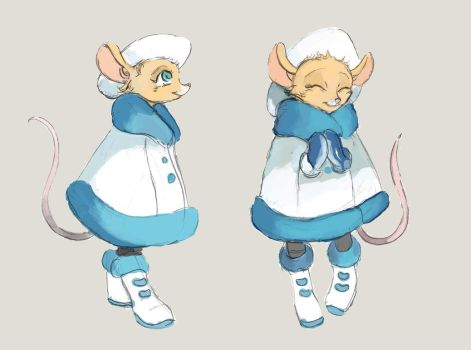 Noomi Sketches - Winter Outfit (age 6) by TheLivingShadow