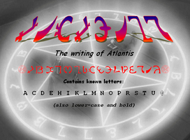 The Writing of Atlantis by kenichi