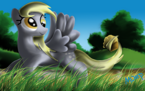Derpy with Muffin by MDerp