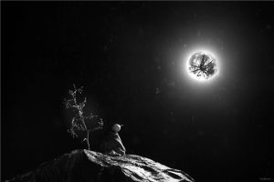 The moon lies broken and alone... by friedinsanity