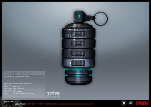 SYNDICATE concept - EMP Grenade by torvenius