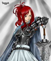 Erza Scarlet the Knight by MarthaTheBarbarian