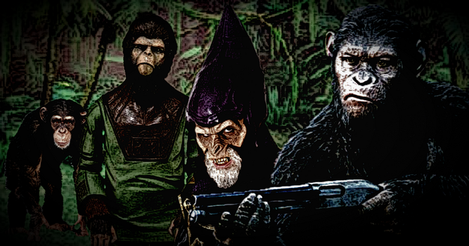 Evolution of the Planet of the Apes by SnoopyQ