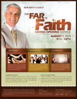 By Faith Church Grand Opening Flyer Template by loswl