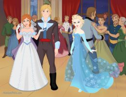 Anna and Kristoff's wedding by Soraply11