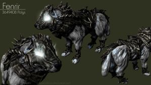 Fenrir - High-Poly by iemersonrosa