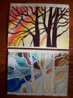 watercolor trees by Reckless-Aysla