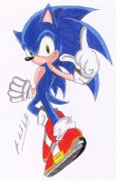 Sonic The Hedgehog Color by davidlatorre