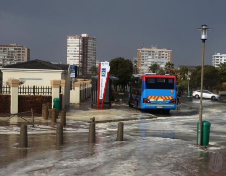 MyCiti busses in the storm by AfricanObserver
