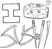 i love sushi w/ face 5-25-12 by ManiacMcGee01