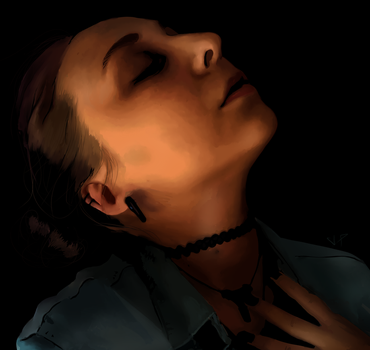 Trying to look dramatic - Realistic Portrait by Scorch-Art